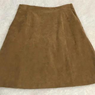 イエナスローブ(IENA SLOBE)のスエードスカート(ミニスカート)
