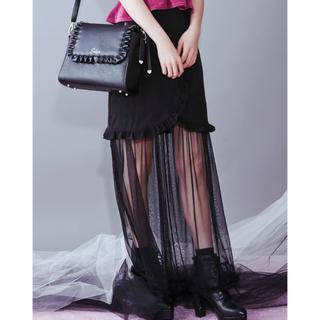 イートミー(EATME)のイートミー新作2WAYフリルチュールコンビスカート 大人気予約完売品 新品タグ付(ミニスカート)
