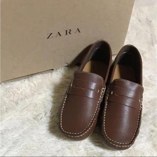 ザラキッズ(ZARA KIDS)の新品 ZARA boys ☆ レザー モカシン ローファー シューズ 靴(ローファー)