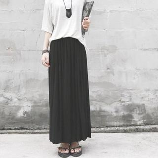 レディーススカート ロングスカート 体型カバー 人気商品 ブラック 多機能 色々(ロングスカート)