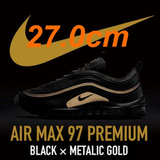 NIKE - NIKE AIR MAX 97 PREMIUM  BLACK × GOLD