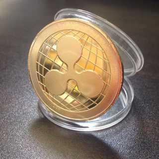 MB019 リップルコイン/Bitcoin/レプリカ/ゴールド(キーホルダー)