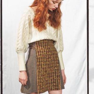 リリーブラウン(Lily Brown)のリリーブラウン レースアップスカート ブラウン(ミニスカート)