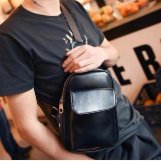 ブラック ボディバッグ メンズ ワンショルダーバッグ 大容量 ショルダーバッグ(ボディーバッグ)
