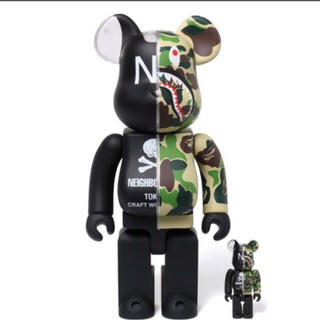 A BATHING APE - BAPE NBHD SHARK BEARBRICK 100% 400% SET