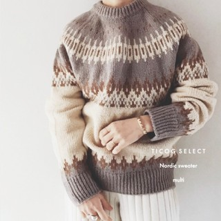 Ticog select shop  ◆Nordic pattern knit