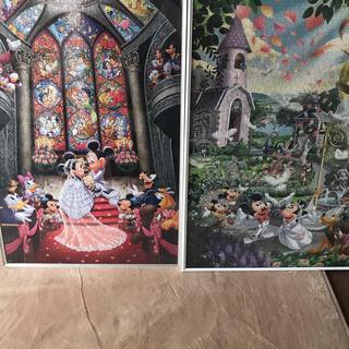 ディズニー(Disney)のディズニージグソーパズル 完成品 3点(インテリア雑貨)