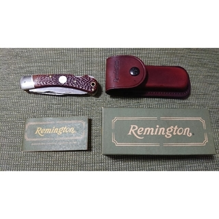 レミントン R-3 折りたたみナイフ 革ケース付き(その他)
