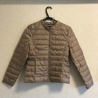 シマムラ(しまむら)のしまむら ライトダウン ブラウン アウターの内側でも着られます(ダウンジャケット)