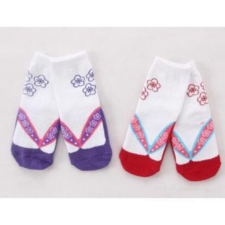 子供用 足袋 草履 柄 靴下 ひな祭り 入園式 卒園式 12-15cm(靴下/タイツ)