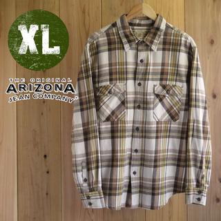 アリゾナ(ARIZONA)のJLS73/XLサイズ/ARIZONA アリゾナ チェック柄 長袖(シャツ)