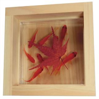 金魚アート 可愛い金魚  「咲/紅葉/紅」 プレゼント 縁起 還暦 バレンタイン(置物)
