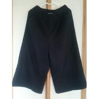 ショコラフィネローブ(chocol raffine robe)のガウチョ ワイド パンツ ネイビー F(カジュアルパンツ)