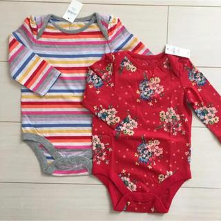 ベビーギャップ(babyGAP)の新品♡babygap 70 ロンパース ボディシャツ(ロンパース)
