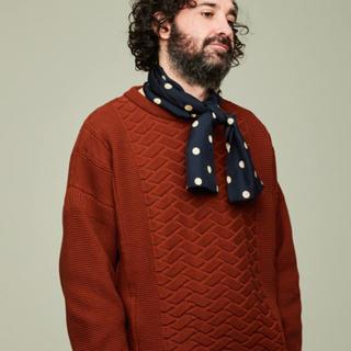 コモリ(COMOLI)のyashiki ヤシキ 18aw ibuki knit 希少 サイズ2(ニット/セーター)