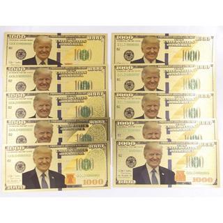 経営者向け10枚セット!黄金に輝くトランプ1000ドル紙幣札 金運・財運アップ(その他)