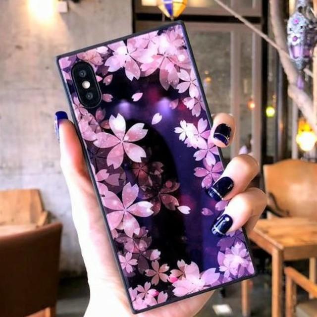 ⭐かわいい⭐さくら柄iPhoneケース スクエアの通販 by すなふきん's shop|ラクマ