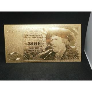 レア!財布金運アップお守り 1960年ドイツ500マルク 24Kゴールド紙幣お札(その他)