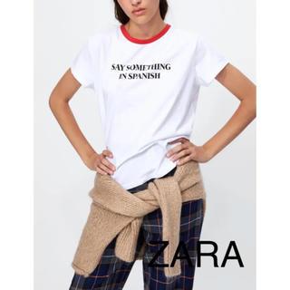 ザラ(ZARA)の新品タグ付き ZARA ザラ ロゴ メッセージ ティシャツ(Tシャツ(半袖/袖なし))