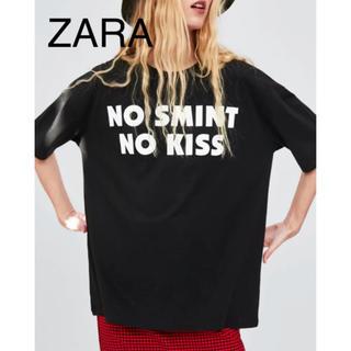 ザラ(ZARA)の新品タグ付き ZARA ザラ ロゴ オーバーシルエット ティシャツ(Tシャツ(半袖/袖なし))