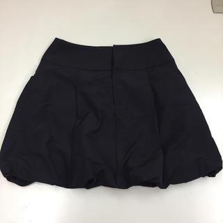 ダブルスタンダードクロージング(DOUBLE STANDARD CLOTHING)の美品★ヴァニラ クチュール ダブルスタンダード★バルーンスカート かぼちゃ 黒(ミニスカート)