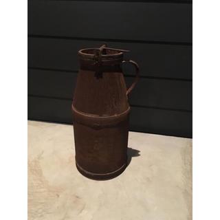 シャビー 古いミルク缶 牛乳缶 アンティーク ガーデニング(その他)