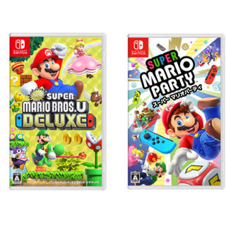 Nintendo Switch - 2本セット newスーパーマリオブラザーズUデラックス&スーパーマリオパーティ
