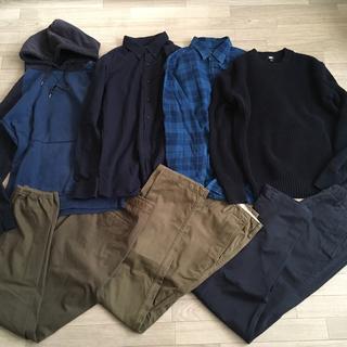 UNIQLO - ユニクロ メンズ チノ シャツ ジョガーパンツ セーター ニット まとめ売り L