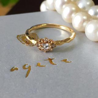 アガット(agete)のagete K18 リング クリスマス限定(リング(指輪))
