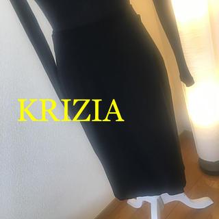 クリツィア(KRIZIA)のKRIZIA レディース膝丈巻きスカート 42 Lサイズ(ひざ丈スカート)