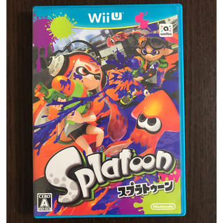 ウィーユー(Wii U)のスプラトゥーン Splatoon Wii U ソフト(家庭用ゲームソフト)