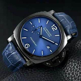 パネライ(PANERAI)のパネライ  ブルーストラップ メンズ 腕時計 ウォッチ デイト (腕時計(アナログ))