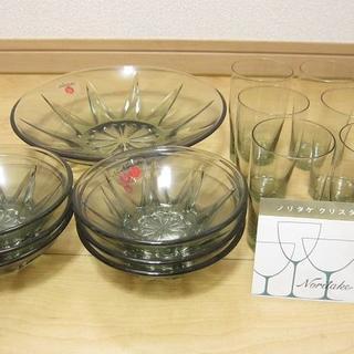 ノリタケ(Noritake)の新品 廃版入手困難 ノリタケ クリスタルファイン レトロカット 皿グラスセット(食器)
