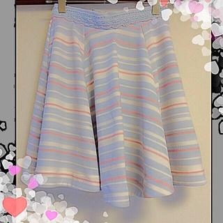 リズリサ(LIZ LISA)の【LIZ LISA】マリン柄スカート♡(ひざ丈スカート)