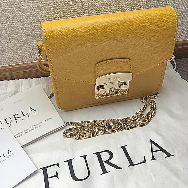 def06c92d162 Furla(フルラ)のフルラ FURLA メトロポリス イエロー 黄色 からし色 チェーン レディース