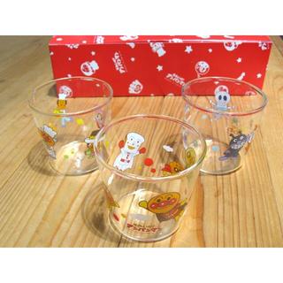 アンパンマン(アンパンマン)のアンパンマン プリンカップ 3個セット 耐熱ガラス コップ(離乳食調理器具)