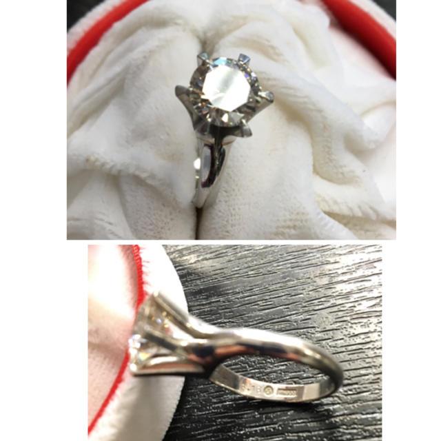 \500万品/婚約指輪/大粒ダイヤリング/D3.18ct★一粒たて爪リング/pt レディースのアクセサリー(リング(指輪))の商品写真