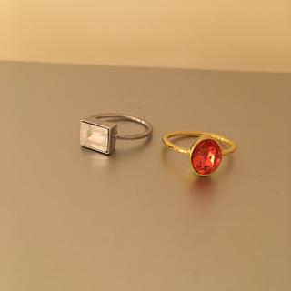エディットフォールル(EDIT.FOR LULU)の新品 ビジュー  指輪 2点セット(リング(指輪))