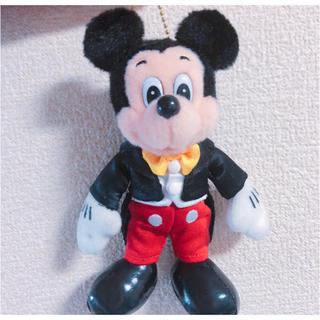 ディズニー(Disney)のミッキー 35周年 ぬいぐるみバッジ(キャラクターグッズ)