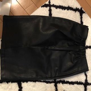 デュラス(DURAS)のDURAS レザータイトスカート新品未使用(ひざ丈スカート)