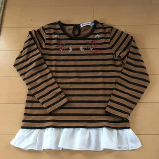 シマムラ(しまむら)のボーダートップス 120(Tシャツ/カットソー)
