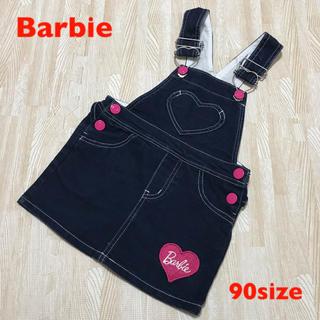 バービー(Barbie)の【美品】バービー ジャンパースカート 90size(ワンピース)