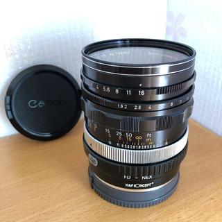 キヤノン(Canon)の【美品】オールドレンズ FL50mm f1.8 K&F conceptアダプター(レンズ(単焦点))