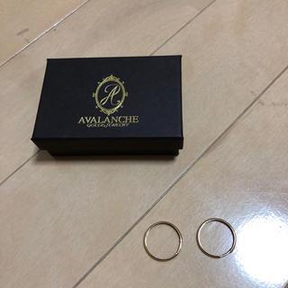 アヴァランチ(AVALANCHE)のAVALANCHE GOLD&JEWERY ピアス 10k 20mm(ピアス(両耳用))