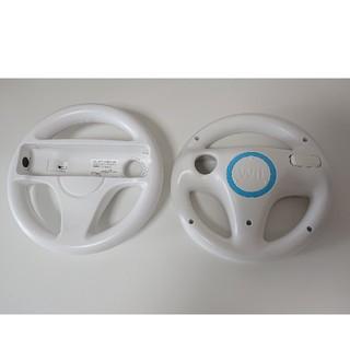 ウィー(Wii)のニンテンドーWii ハンドル ヌンチャク リモコンセット(家庭用ゲーム本体)