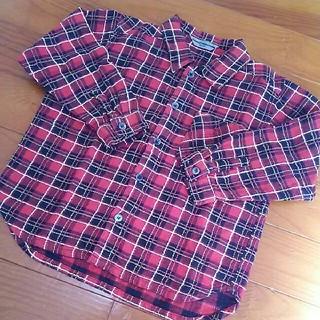 コシノジュンコ(JUNKO KOSHINO)のジュンココシノ 長袖シャツ 110 カットソー 赤(Tシャツ/カットソー)