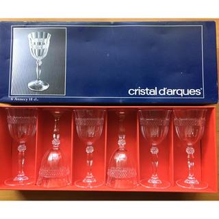 クリスタルダルク(Cristal D'Arques)のクリスタルダルク ワイングラス 6脚 セット(アルコールグッズ)