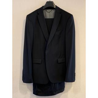 ザラ(ZARA)のザラでは珍しい100%ウールのスーツ ブラック上52下44(セットアップ)