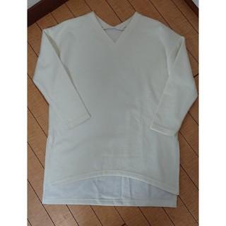 ジーユー(GU)のGU ジーユー Vネックチュニック チュニックワンピ(Tシャツ(長袖/七分))