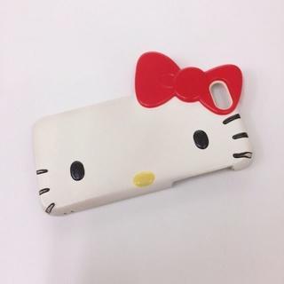 サンリオ(サンリオ)のiPhone8ケース♡キティちゃん型♡セルフィー♡使用期間2ヶ月程度♡サンリオ♡(iPhoneケース)